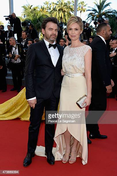 Clovis Cornillac and Lilou Fogli attend the Premiere of 'Inside Out' during the 68th annual Cannes Film Festival on May 18 2015 in Cannes France