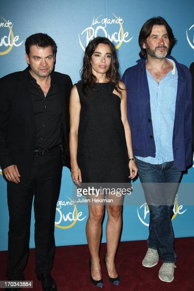 Clovis Cornillac Elodie Bouchez and Laurent Tuel attend 'La Grande Boucle' Paris Premiere at Gaumont ChampsElysees on June 11 2013 in Paris France