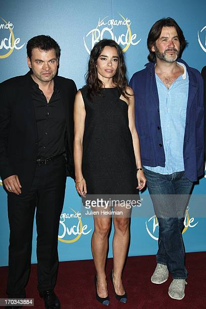 Clovis Cornillac Elodie Bouchez and Laurent Tuel attend 'La Grande Boucle' Paris Premiere at Gaumont ChampsElysees on June 11 2013 in Paris France