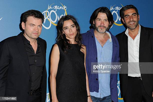 Clovis Cornillac Elodie Bouchez Laurent Tuel and Ary Abittan attend the 'La Grande Boucle' Paris Premiere on June 11 2013 in Paris France