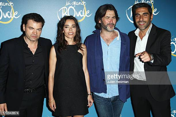 Clovis Cornillac Elodie Bouchez Laurent Tuel and Ary Abittan attend 'La Grande Boucle' Paris Premiere at Gaumont ChampsElysees on June 11 2013 in...