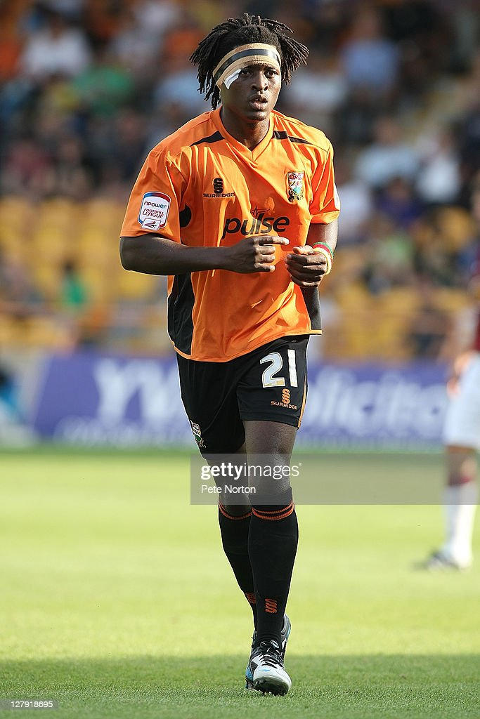 Clovis Kamdjo of Barnet in action during the npower League two match between Barnet and Northampton Town at Underhill Stadium on October 1, 2011 in Barnet, England.