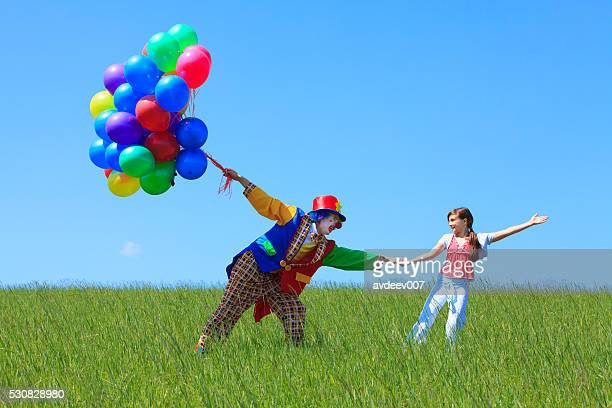Clown and Girl