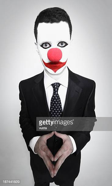 clown Gesicht Geschäftsmann