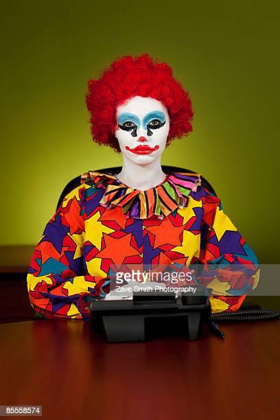 Clown in officew