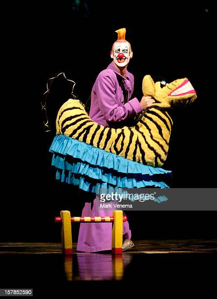 Clown of Cirque du Soleil performs 'Alegria' at Ahoy on December 6 2012 in Rotterdam Netherlands