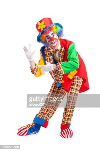 Clown on white background