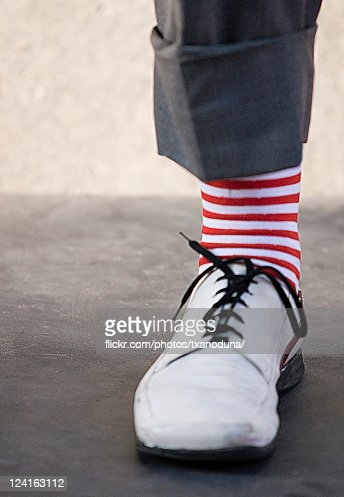 Clown socks leg : Stock Photo
