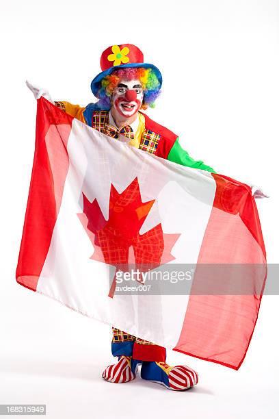 Clown with Canada flag