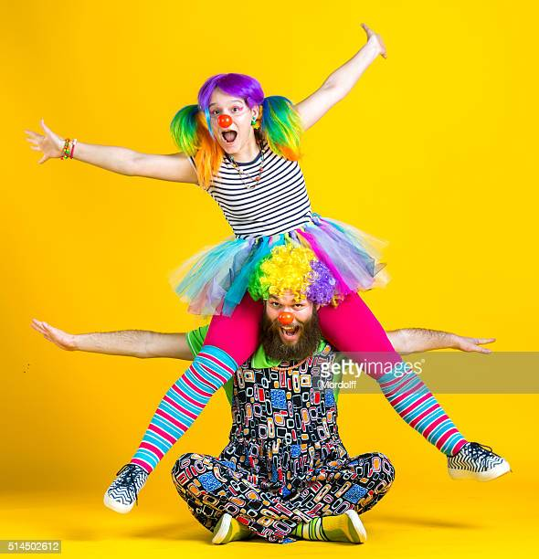 Clowns Having Fun