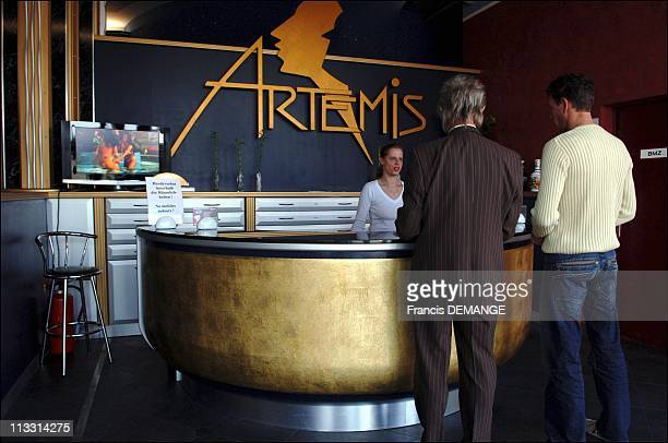 Club Artemis Berlin'S Largest And Most Luxurious Brothel On April 8Th 2006 In Berlin Germany Here The Reception Of Club 'Artemis' A Hostess Greets...