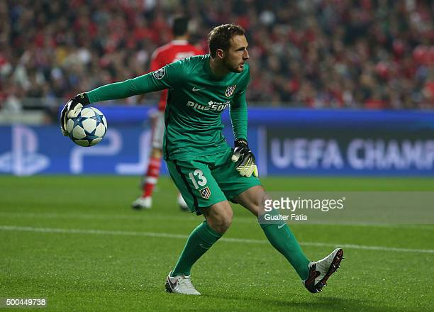 Club Atletico de Madrid's goalkeeper Jan Oblak in action during the UEFA Champions League match between SL Benfica and Club Atletico de Madrid at...