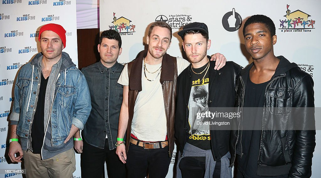 Club band members attend the 7th Annual 'Stars & Strikes' Celebrity Bowling and Poker Tournament benefiting A Place Called Home at PINZ Bowling & Entertainment Center on March 6, 2013 in Studio City, California.
