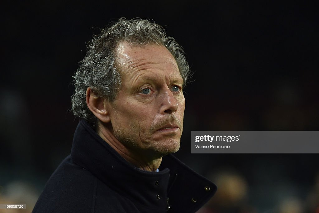 Club Brugge KV head coach Michel Preud homme looks on during the UEFA Europa League group B match between Torino FC and Club Brugge KV on November 27, 2014 in Turin, Italy.