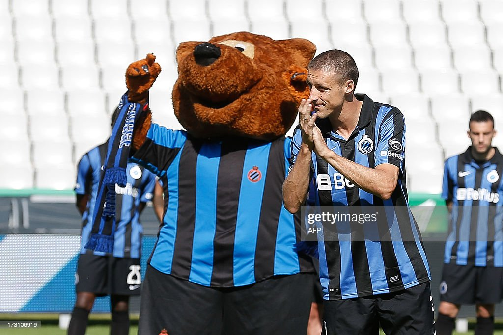 Club Brugge' Timmy Simons is pictured during the fan day of the Belgian first league football team on July 7, 2013, in Brugge.