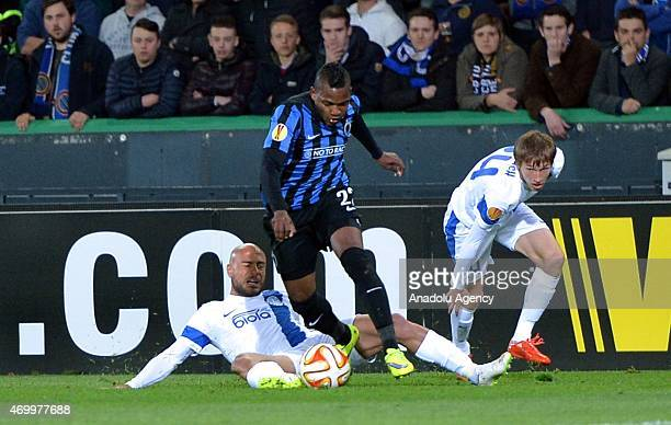 Club Brugge's Jose Izquierdo in action during the UEFA Europa League quarterfinal football match between Club Brugge and Dnipro Dnipropetrovsk at Jan...