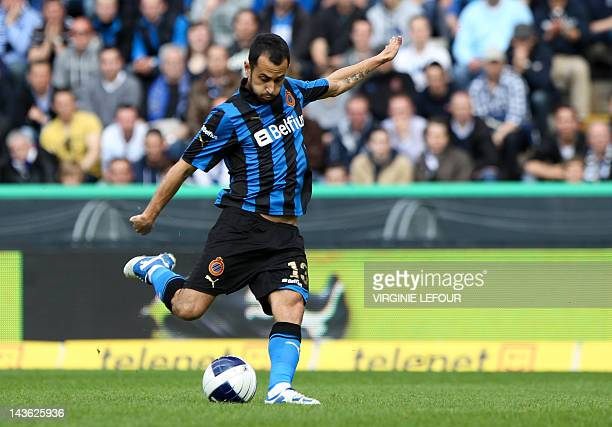 Club Brugge's Victor Vazquez Solsona scores to make it 10 against Standard Liege during the Jupiler Pro League PlayOff group 1 match in Brugge on May...