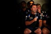 Club coach Ricky Stuart speaks to the media at the Parramatta Eels NRL captaincy announcement at Parramatta Stadium on February 22 2013 in Sydney...