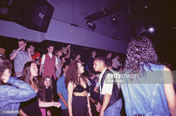 Clubbers at The Hacienda nightclub Manchester circa 1995