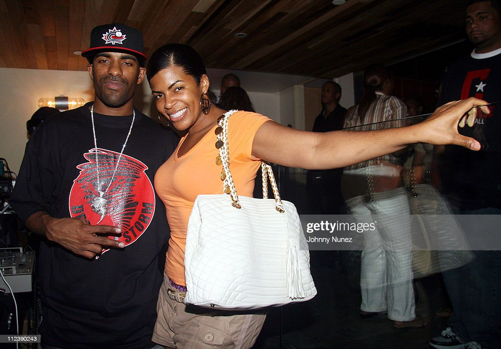 DJ Clue and Cherry Martinez of Power 1051 FM during Power1051 FM and T Mobile SideKick 3 Party July 20 2006 at Hotel QT Pool in New York City New...