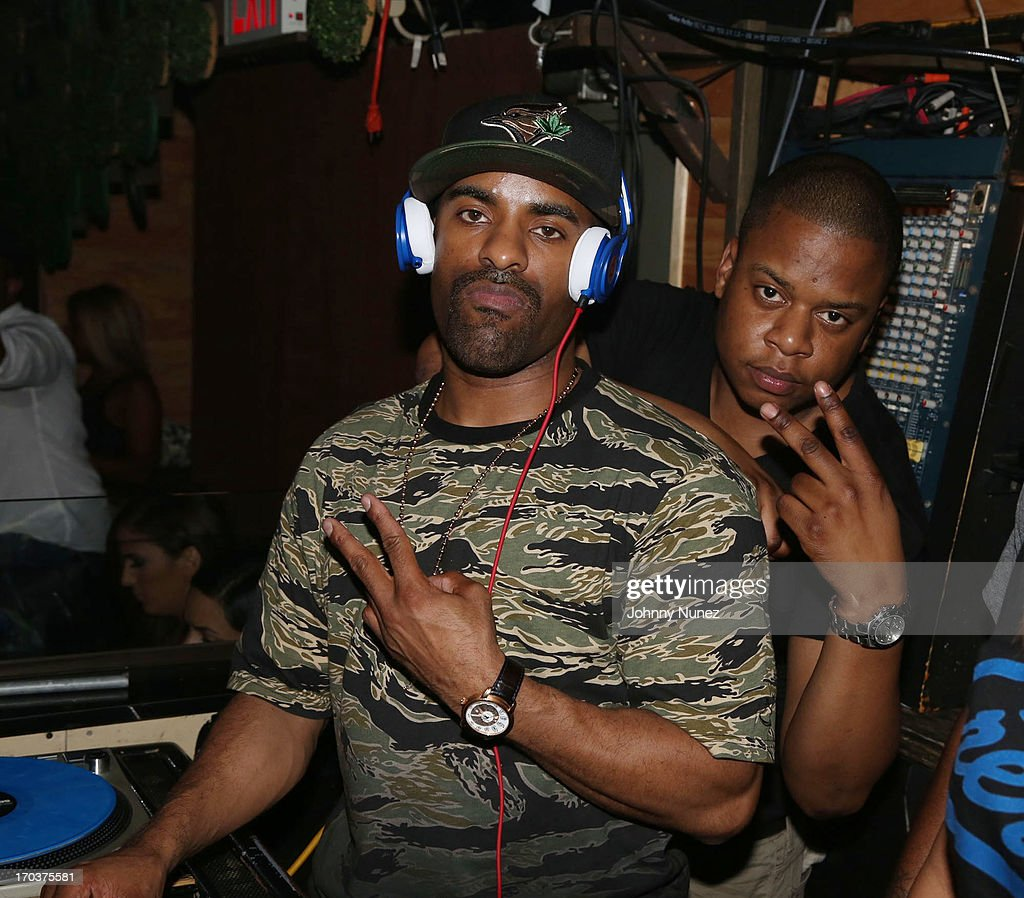 DJ Clue and DJ First Choice attend Von Smith's Birthday Party at Greenhouse on June 11, 2013 in New York City.
