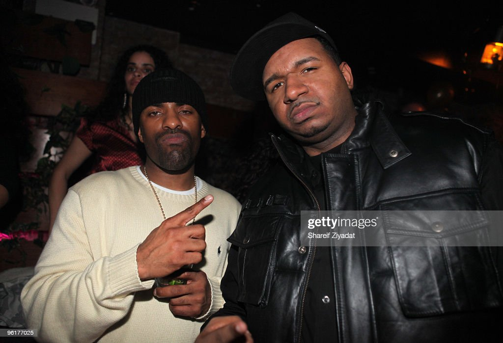 Clue and DJ Suss One seen at Pink Elephant on January 25 2010 in New York City