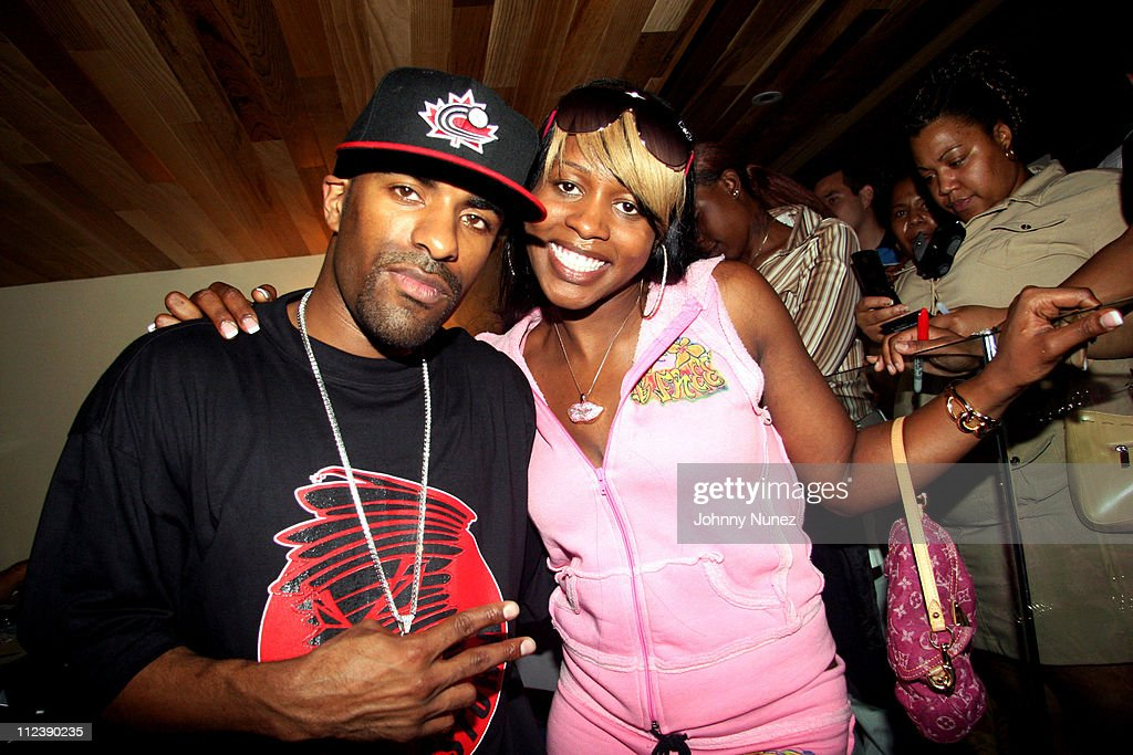 DJ Clue and Remy Martin during Power1051 FM and T Mobile SideKick 3 Party July 20 2006 at Hotel QT Pool in New York City New York United States