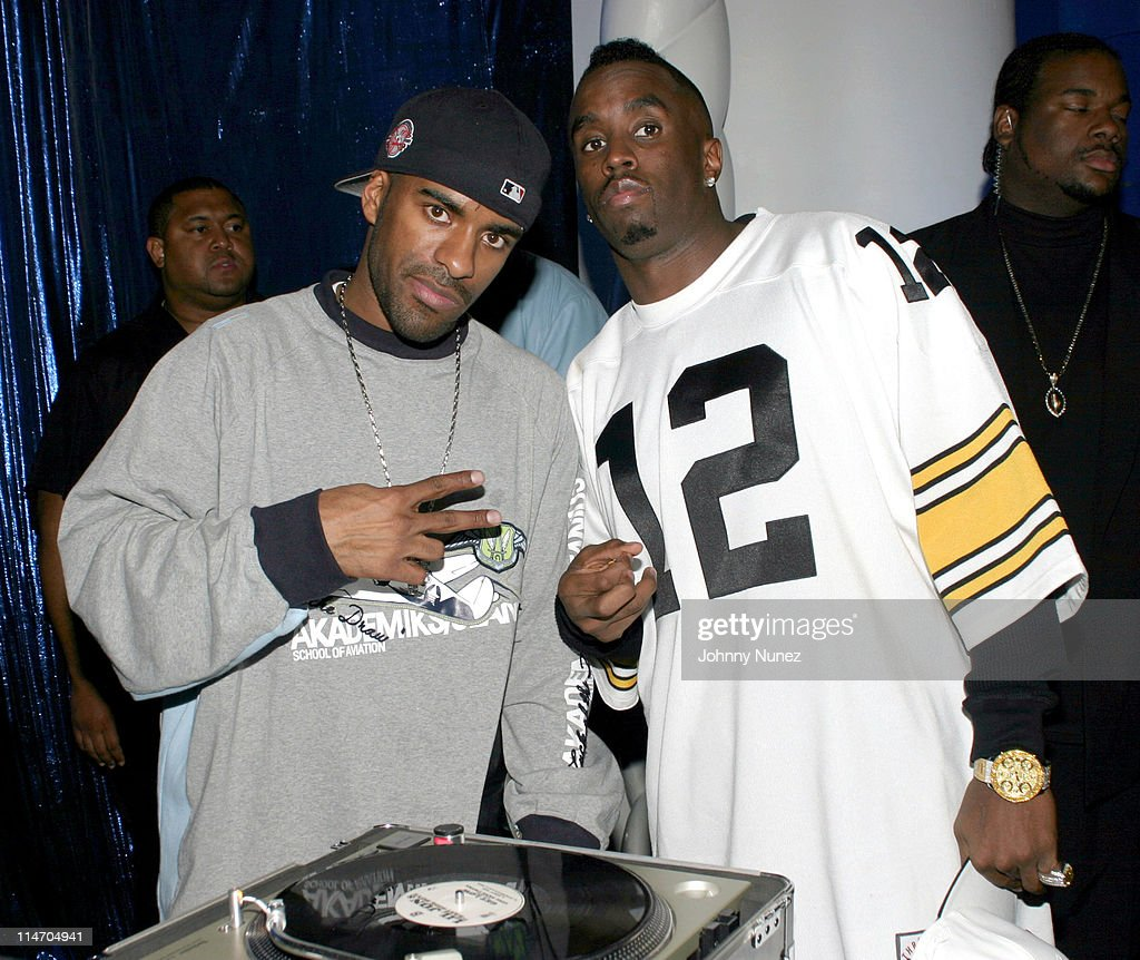 DJ Clue and Sean 'P Diddy' Combs during Sean 'P Diddy' Combs Runs The City PreMarathon Party Fundraiser at The Supper Club in New York City New York...