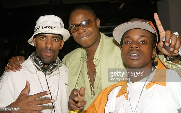 DJ Clue Doug E Fresh and Little Vicious during Hyypnotiq Party With DJ Clue and Fabolous at Deep in New York City New York United States