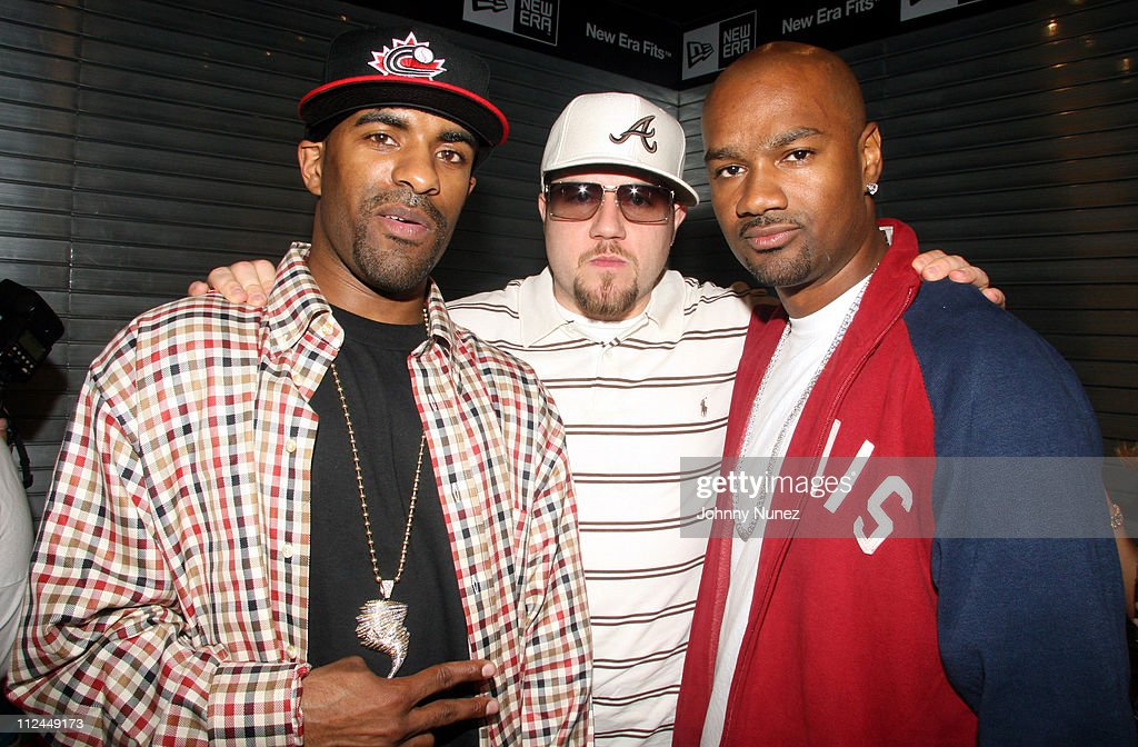 DJ Clue Jonathan Manion and Tigger during Grand Opening of NewEra Flagship Store in New York City May 18 2006 at New Era Store in New York City New...