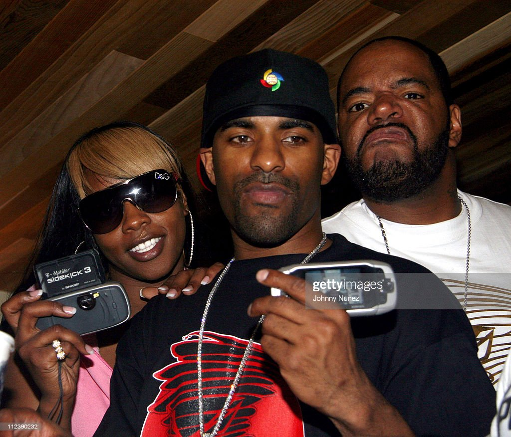 DJ Clue Remy Martin and Ed Lover during Power1051 FM and T Mobile SideKick 3 Party July 20 2006 at Hotel QT Pool in New York City New York United...