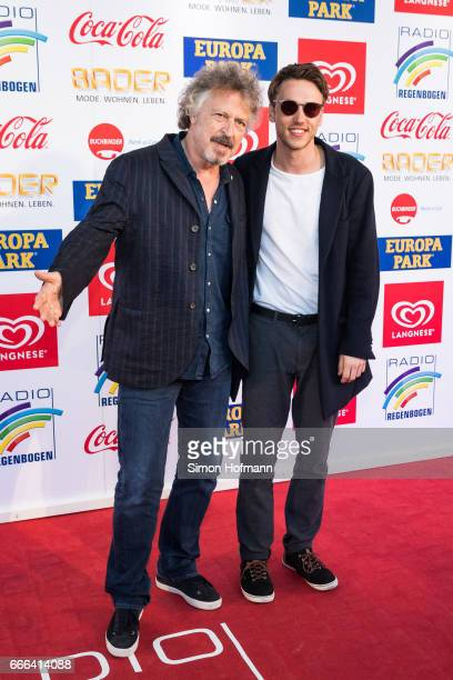 Clueso and Wolfgang Niedecken attend the Radio Regenbogen Award 2017 at Europapark on April 7 2017 in Rust Germany