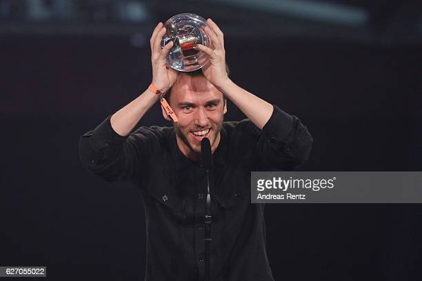 Clueso wins the 1Live Krone at Jahrhunderthalle on December 1 2016 in Bochum Germany