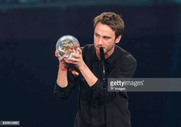 Clueso wins the 1Live Krone during the 1Live Krone at Jahrhunderthalle on December 1 2016 in Bochum Germany