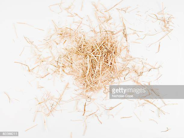 Clump of hay on pure white ground