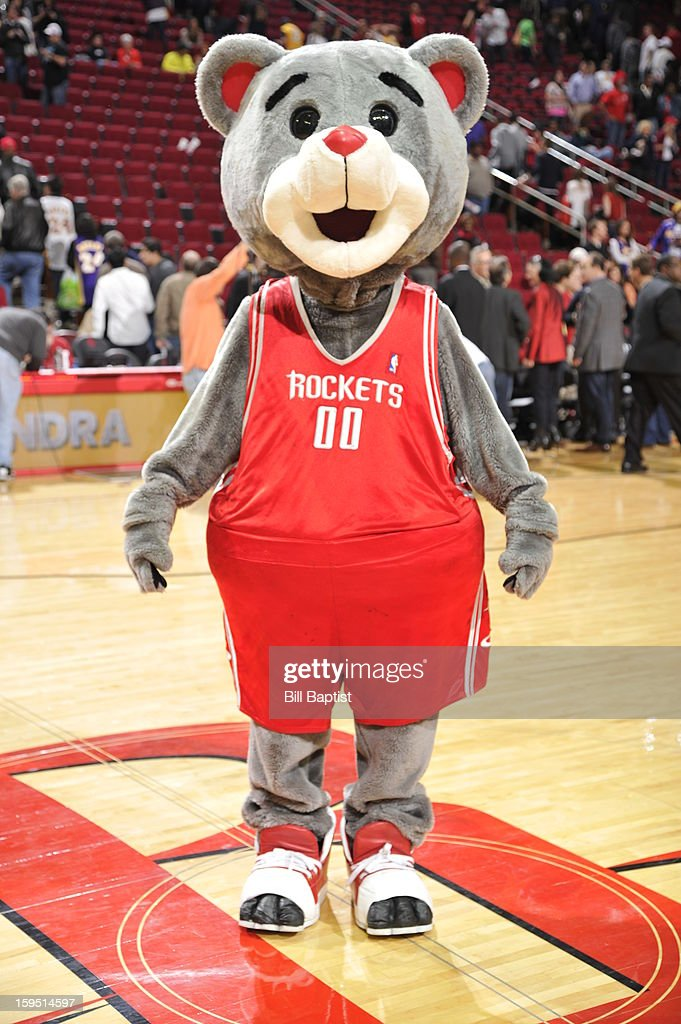 'Clutch,' the Rockets Bear, performs before the game against the Los Angeles Lakers on January 8, 2013 at the Toyota Center in Houston, Texas.