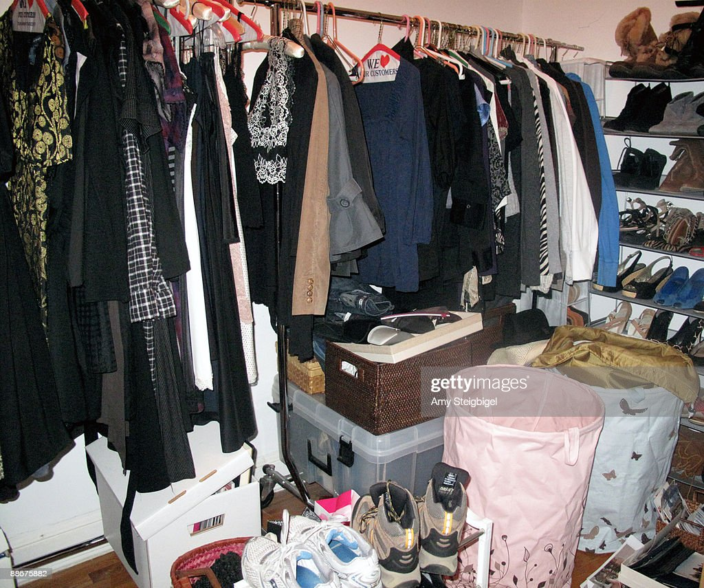 Cluttered Closet : Stock Photo