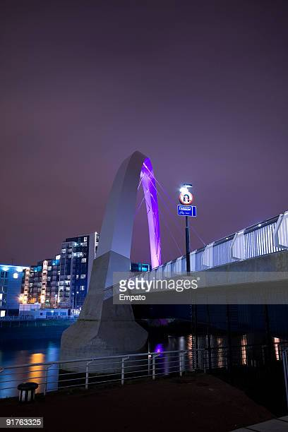Clyde Arc at night.