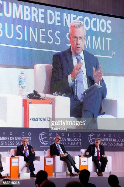 Clyde Prestowitz president of Economic Strategy Institute from left Carlos Manuel Sada Mexico's ambassador to the United States and Andrew Selee...