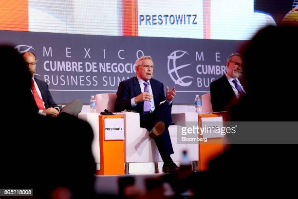 Clyde Prestowitz president of Economic Strategy Institute speaks during the Mexico Business Summit in San Luis Potosi Mexico on Sunday Oct 22 2017...