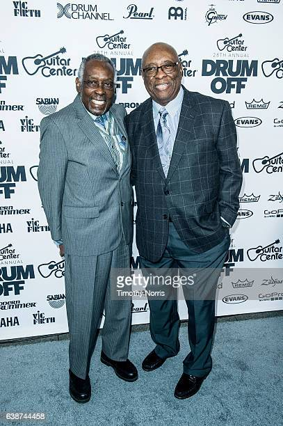 Clyde Stubblefield and John 'JAB'O' Starks attend Guitar Center's 28th Annual DrumOff at The Novo by Microsoft on January 14 2017 in Los Angeles...