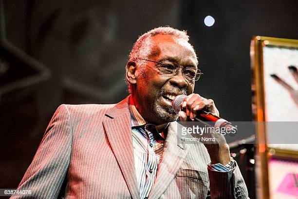 Clyde Stubblefield speaks during Guitar Center's 28th Annual DrumOff at The Novo by Microsoft on January 14 2017 in Los Angeles California