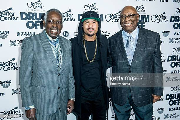 Clyde Stubblefield Tony Royster Jr and John 'JAB'O' Starks attend Guitar Center's 28th Annual DrumOff at The Novo by Microsoft on January 14 2017 in...