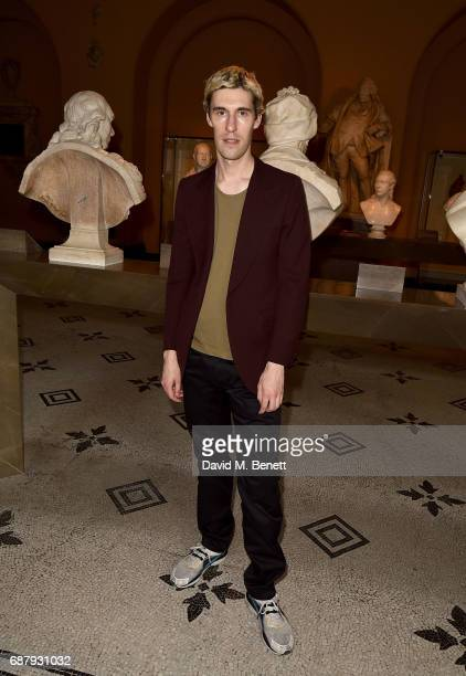 Clym Evernden attends Balenciaga Shaping Fashion VIP Preview sponsored by American Express at Victoria and Albert Museum on May 24 2017 in London...