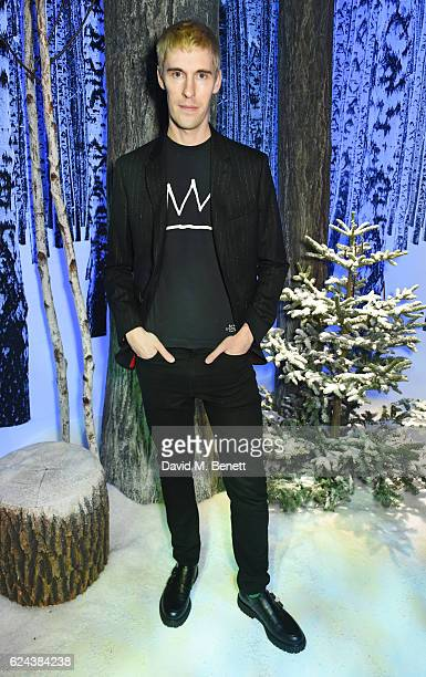 Clym Evernden attends Claridge's Christmas Tree 2016 Party with tree designed by Sir Jony Ive and Marc Newson at Claridge's Hotel on November 19 2016...