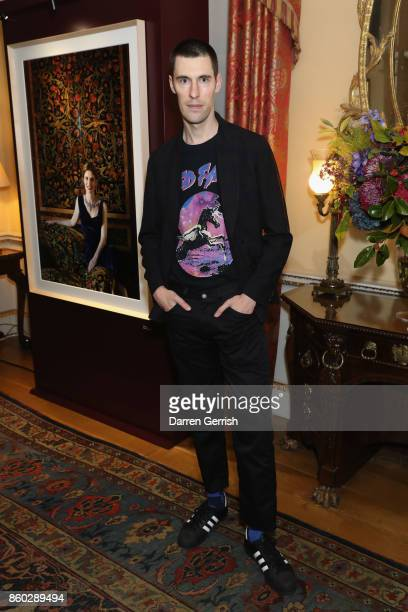 Clym Evernden attends Giampiero Bodino's 'Beauty Is My Favourite Colour' cocktails and dinner evening at Spencer House on October 11 2017 in London...