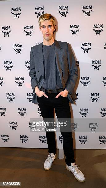 Clym Evernden attends MCM's London Flagship Opening Party on December 6 2016 in London England
