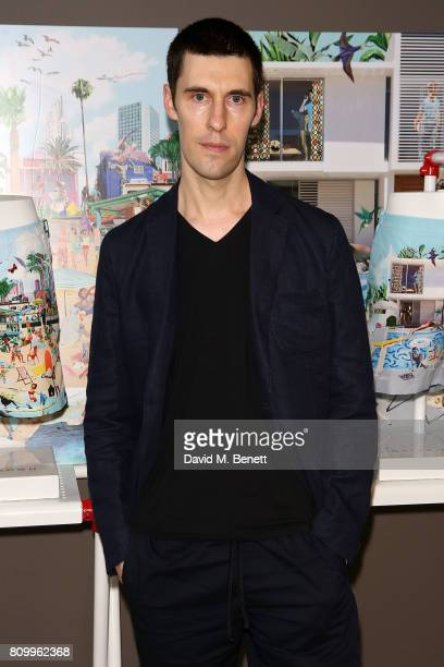 Clym Evernden attends Orlebar Brown's 10th anniversary party at BB Italia on July 6 2017 in London England