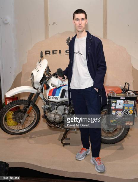 Clym Evernden attends the Belstaff Presentation during the London Fashion Week Men's June 2017 collections on June 12 2017 in London England