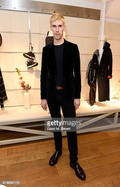 Clym Evernden attends the High Everyday Couture Collection Presentation by Claire Campbell hosted by Jasmine Guinness and Jade Parfitt on October 27...